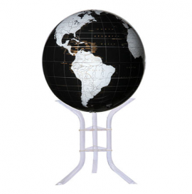 Black & White 30in. Diameter Sphere on Floor Stand Base