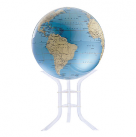 Blue & Ivory 30in. Diameter Sphere on Floor Stand Base