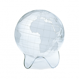 Clear & Frosted 12in. Diameter Sphere on Triangle Base